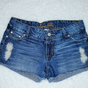 Cute Love Notes Distressed Jean Shorts 7
